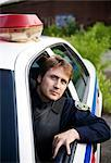 Police Officer in Cruiser, Toronto, Ontario, Canada    Stock Photo - Premium Rights-Managed, Artist: Blue Images Online, Code: 700-02348222