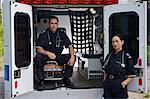 Portrait of Paramedics in Ambulance, Toronto, Ontario, Canada    Stock Photo - Premium Rights-Managed, Artist: Blue Images Online, Code: 700-02348248