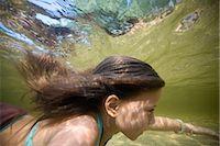 preteen girl - Little Girl Swimming in Long Lake Naples, Maine, USA    Stock Photo - Premium Rights-Managednull, Code: 700-02348570