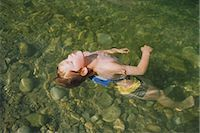 Boy Floating in River    Stock Photo - Premium Rights-Managednull, Code: 700-02348593