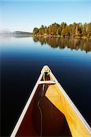Canoe on Lake of Two Rivers, Algonquin Park, Ontario, Canada    Stock Photo - Premium Royalty-Freenull, Code: 600-02348733