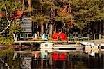 Cottage on Lake, Algonquin Park, Ontario, Canada    Stock Photo - Premium Royalty-Free, Artist: Dan Lim, Code: 600-02348774