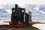 Steam Train, Ny Alesund, Spitsbergen, Norway    Stock Photo - Premium Rights-Managed, Artist: F. Lukasseck, Code: 700-02371095