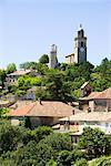 View on church and roofs, Reillanne, Provence, France    Stock Photo - Premium Rights-Managed, Artist: F. Lukasseck, Code: 700-02371127