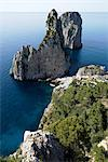Overview of Faraglioni Rocks, Gulf of Naples, Capri, Italy    Stock Photo - Premium Rights-Managed, Artist: Siephoto, Code: 700-02371325