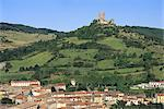 France, Languedoc, Puivert, castle and village Stock Photo - Premium Royalty-Freenull, Code: 610-02374107