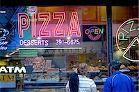 restaurant new york manhattan - United States, New York, Manhattan, near Times square, neon sign and pastries in a window shop Stock Photo - Premium Royalty-Freenull, Code: 610-02374255