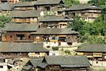 China, Guizhou, Xijiang village, general view Stock Photo - Premium Royalty-Freenull, Code: 610-02374419