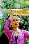 Thailand, Bangkok, Vimanmek palace, traditional thai dance, young girl
