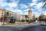 Spain, Valencia, plazza de la Reina, cathedral and tower Miguelete Stock Photo - Premium Royalty-Freenull, Code: 610-02374543