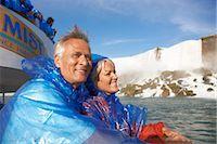 Couple on Boat, Niagara Falls, Ontario, Canada    Stock Photo - Premium Rights-Managednull, Code: 700-02376808