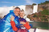 Couple on Boat, Niagara Falls, Ontario, Canada    Stock Photo - Premium Rights-Managednull, Code: 700-02376810