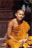 Portrait of Monk at Angkor Wat, Angor, Cambodia    Stock Photo - Premium Rights-Managednull, Code: 700-02376995