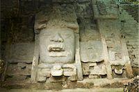 Carvings in Ruins, Lamanai, Belize    Stock Photo - Premium Royalty-Freenull, Code: 600-02377146
