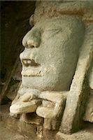 Carvings in Ruins, Lamanai, Belize    Stock Photo - Premium Royalty-Freenull, Code: 600-02377147