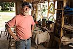 Portrait of Man in Furniture Repair Workshop    Stock Photo - Premium Rights-Managed, Artist: George Remington, Code: 700-02377922