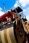 Low angle view of a steamroller at construction site    Stock Photo - Premium Rights-Managed, Artist: Glowimages, Code: 837-02379241