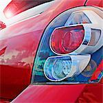 Close-up of the tail light of a car    Stock Photo - Premium Rights-Managed, Artist: Glowimages, Code: 837-02379252