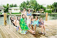 Portrait of a group of friends smiling    Stock Photo - Premium Rights-Managednull, Code: 837-02379582