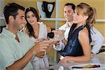 Four friends celebrating with cocktail    Stock Photo - Premium Rights-Managed, Artist: Glowimages, Code: 837-02380263