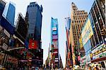 Commercial signs on buildings, Times Square, Manhattan, New York City, New York State, USA    Stock Photo - Premium Rights-Managed, Artist: Glowimages, Code: 837-02380856