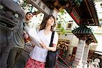 Couple with Map, China Town, San Francisco, California, USA    Stock Photo - Premium Rights-Managed, Artist: Ty Milford, Code: 700-02385999