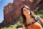 Portrait of Woman Hiking, Arizona, USA    Stock Photo - Premium Rights-Managed, Artist: Ty Milford, Code: 700-02386018