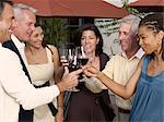 Group of people toasting wine glasses at party, smiling Stock Photo - Premium Royalty-Free, Artist: MonkeyBusinessImages, Code: 613-02388570