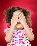Girl (2-4) covering eyes with hands, smiling Stock Photo - Premium Royalty-Free, Artist: Michael A. Keller, Code: 618-02394869