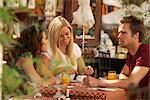 Friends in french market cafe Stock Photo - Premium Royalty-Free, Artist: Masterfile, Code: 649-02424413