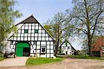 Half-timbered Farmhouse, Bissendorf, Lower Saxony, Germany    Stock Photo - Premium Rights-Managed, Artist: F. Lukasseck, Code: 700-02428403