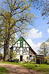 Half-timbered Farmhouse, Bissendorf, Lower Saxony, Germany    Stock Photo - Premium Rights-Managed, Artist: F. Lukasseck, Code: 700-02428405