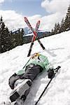 Injured Skiier on Hillside    Stock Photo - Premium Rights-Managed, Artist: Norbert Kramer, Code: 700-02428559