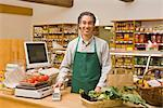 Organic Grocer    Stock Photo - Premium Rights-Managed, Artist: Lothar Wels, Code: 700-02428691