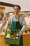Man with Box of Groceries    Stock Photo - Premium Rights-Managed, Artist: Lothar Wels, Code: 700-02428698