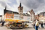 Central Market and St Gangolf Church, Trier, Rhineland-Palatinate, Germany    Stock Photo - Premium Rights-Managed, Artist: F. Lukasseck, Code: 700-02461376