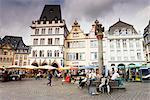Central Market and Market Cross, Trier, Rhineland-Palatinate, Germany    Stock Photo - Premium Rights-Managed, Artist: F. Lukasseck, Code: 700-02461379