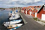 Fishing Huts and Boats at Harbour, Bohuslan, Sweden    Stock Photo - Premium Royalty-Free, Artist: F. Lukasseck, Code: 600-02461463