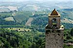 Overview of Landscape and Bell Tower, San Gimignano, Italy    Stock Photo - Premium Royalty-Free, Artist: Atli Mar Hafsteinsson, Code: 600-02463520