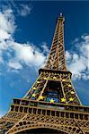 European Union Emblem on the Eiffel Tower, Paris, France    Stock Photo - Premium Rights-Managed, Artist: JW, Code: 700-02463559