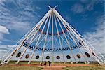 World's Largest Teepee, Saamis Teepee, Medicine Hat, Alberta, Canada    Stock Photo - Premium Rights-Managed, Artist: Moritz Schönberg, Code: 700-02519046