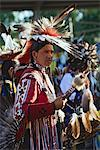 Blackfoot Man at Pow-wow in Kainai Nation, South of Fort Macleod, Alberta, Canada    Stock Photo - Premium Rights-Managed, Artist: Moritz Schönberg, Code: 700-02519094