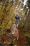Mountain Biker, Blackrock Mountain Bike Park, Near Salem, Oregon, USA