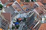 View of Rooftops in Breisach, Baden-Wurttemberg, Germany