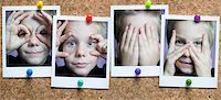 preteen  smile  one  alone - Photographs of Boy on Corkboard    Stock Photo - Premium Rights-Managednull, Code: 700-02590933