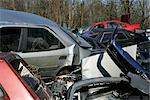 Wrecked Cars in Scrap Yard    Stock Photo - Premium Rights-Managed, Artist: oliv, Code: 700-02594296
