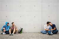 Two gay couples Stock Photo - Premium Royalty-Freenull, Code: 614-02613417