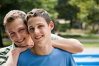 Portrait of a gay couple Stock Photo - Premium Royalty-Freenull, Code: 614-02613420