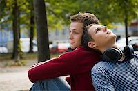 A gay couple back to back Stock Photo - Premium Royalty-Freenull, Code: 614-02613438