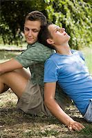 A gay couple back to back Stock Photo - Premium Royalty-Freenull, Code: 614-02613463